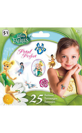 Disney Princess Fairies Temporary Tattoos • Mini Tattoo Bag 25ct