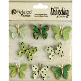 Darjeeling Teastained Mini Butterflies Green (8/Pkg)