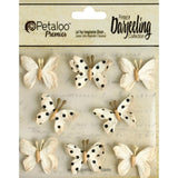 Darjeeling Teastained Mini Butterflies Cream (8/Pkg)