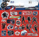 Captain America The Winter Soldier Sticker (2 sheets)