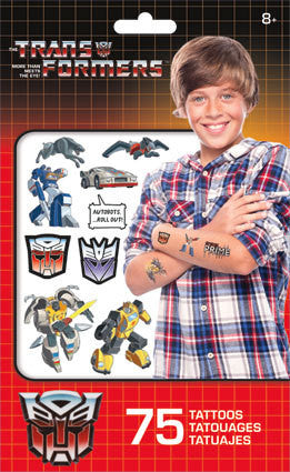 Transformers Classic Temporary Tattoos 75ct