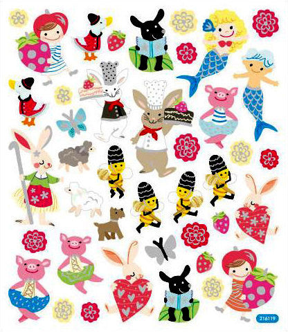 Bunnies & Bees Stickers