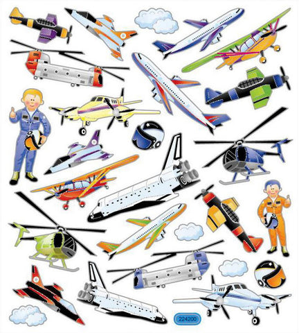 Aviation Stickers • Aircraft Multicolored Stickers