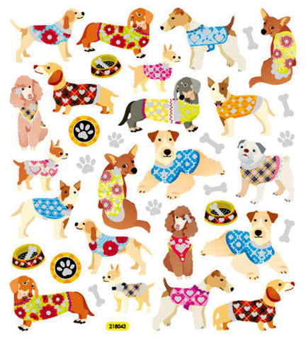 Dogs In Sweaters Stickers