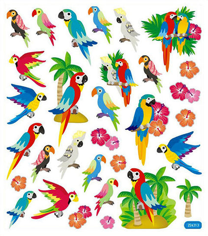 Parrots Tropical Birds Stickers
