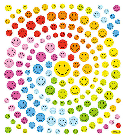 Happy Face Glitter Stickers