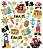 Pirate Stickers • Pirate Birthday Treasury Hunt