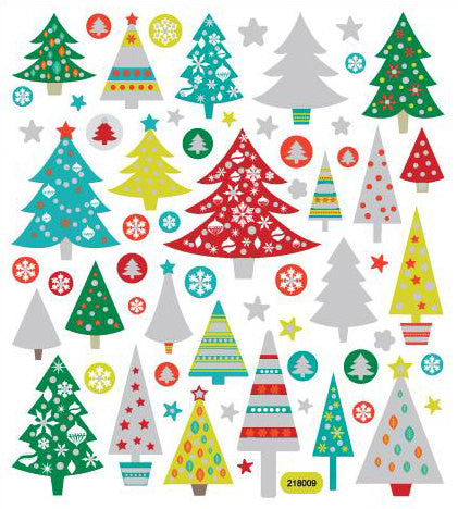Christmas Trees Stickers • Holidays Glitter Sticker
