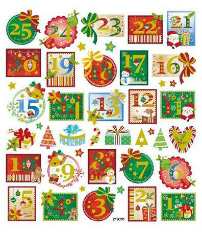 Christmas Stamps Sticker • Advent Calendar