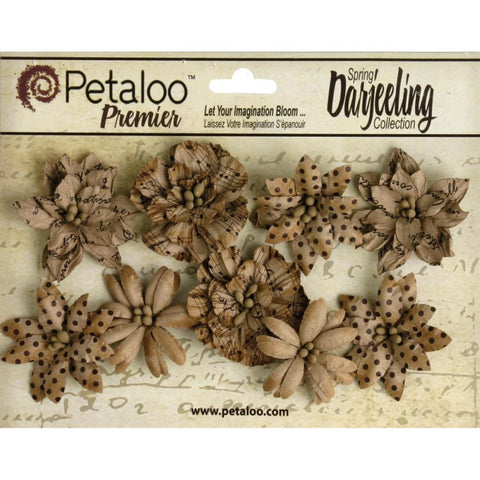 Craft Brown Darjeeling Paper Wild Blossoms (9/Pkg)