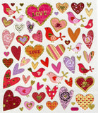 Love Birds with Hearts Sticker