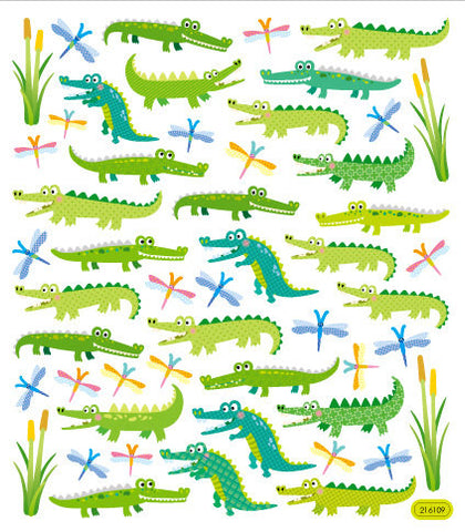 Alligator Fun Multicolored Stickers • Alligator Sticker
