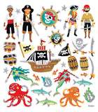 Sea Pirate Stickers