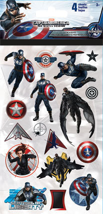 Captain America The Winter Soldier Sticker (4 sheets)
