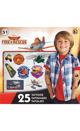 Disney Planes Fire & Rescue Temporary Tattoos • Mini Tattoo Bag 25ct