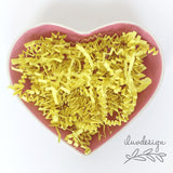 Yellow Shredded Paper • Citron Crinkle Paper Shred Sparkle Crinkle Cut Basket Filler (9oz)