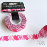 Hearts Die Cut Decorative Tape Works