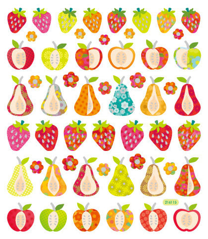 Kawaii Fruit Sticker • Patterned Fruit Sticker