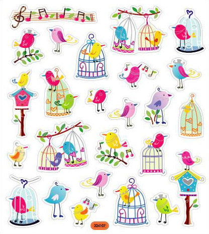 Birds Stickers • Birdcage Stickers