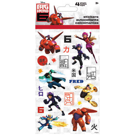 Big Hero 6 Sticker (4 sheets)