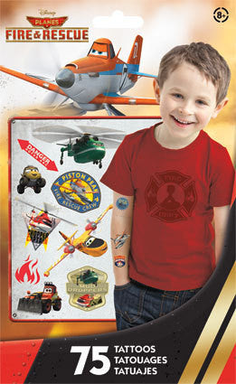 Disney Planes Fire & Rescue Temporary Tattoos 75ct