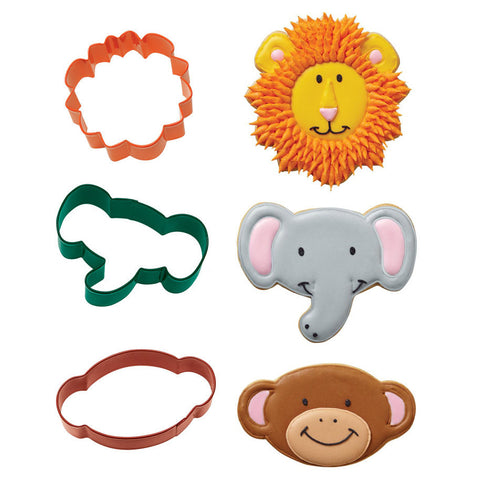 Jungle Pals Cookie Cutter Set (3/pkg)