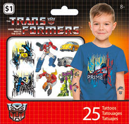 Transformers Classic Temporary Tattoos • Mini Tattoo Bag 25ct
