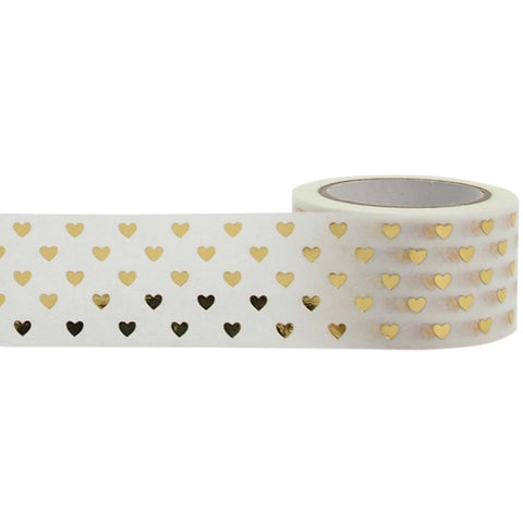 Gold Hearts Decorative Tape