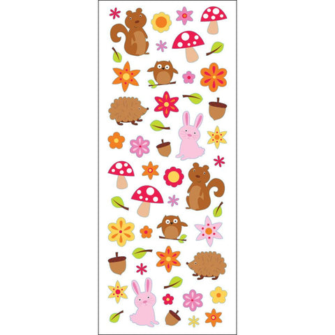 Woodland Animals Puffy Classic Stickers