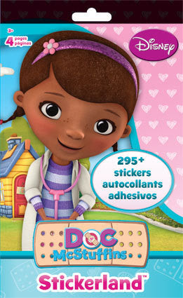 Doc McStuffins Stickers Stickerland Pad (4 pages • 295 Stickers) Doc McStuffins Party Favor • Doc McStuffins Birthday (ST5240)