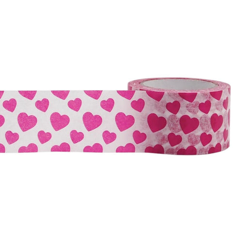 Pink Hearts Decorative Tape • Little B Paper Tape