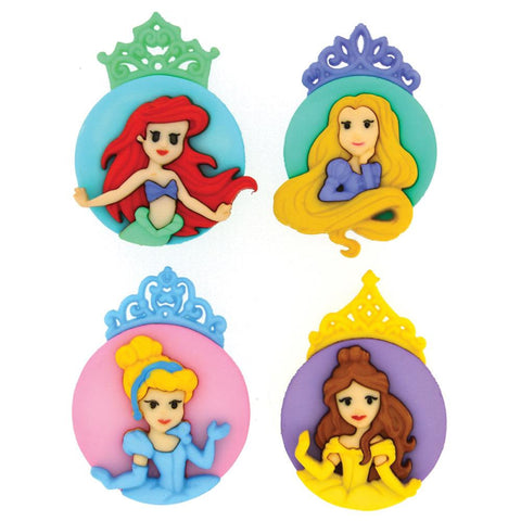 Disney Princess Assortment Dress it up Embellishment (4/Pkg)