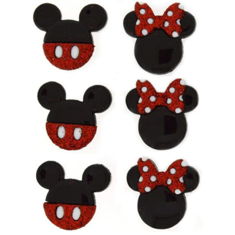 Disney Mickey & Minnie Mouse Embellishment • Mickey Mouse Button (6/Pkg)