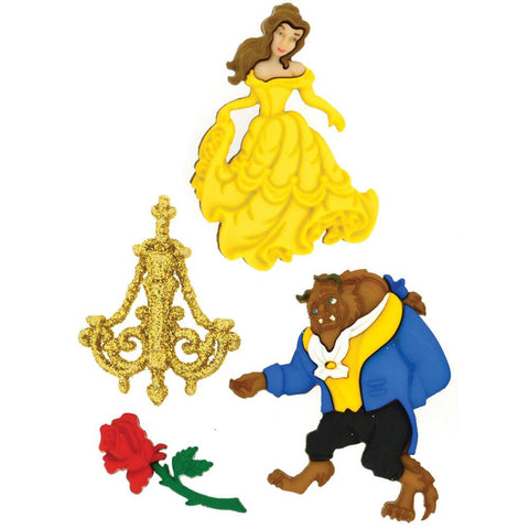 Disney Beauty & The Beast Dress it up Embellishment (4/Pkg)