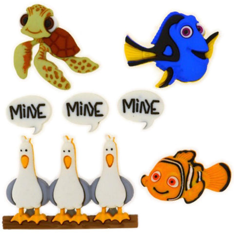 Disney Finding Nemo Dress it up Embellishment (7/Pkg)