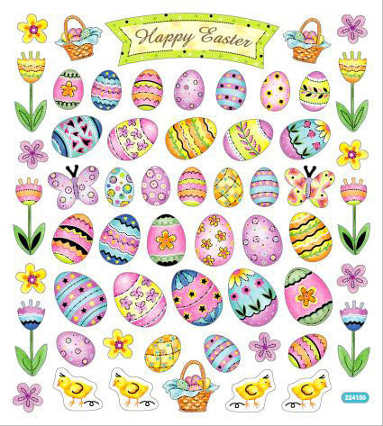 Happy Easter Eggs Stickers