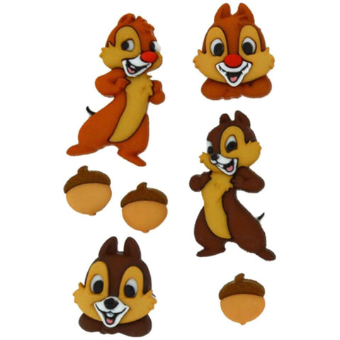 Disney Chip & Dale Embellishment • Chip and Dale Button (7/Pkg)