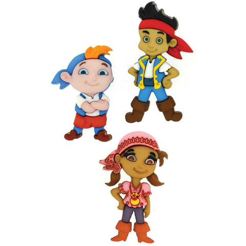 Disney Jake & The Neverland Pirates Embellishment (3/Pkg)