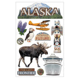 Alaska Paper House 3D Sticker