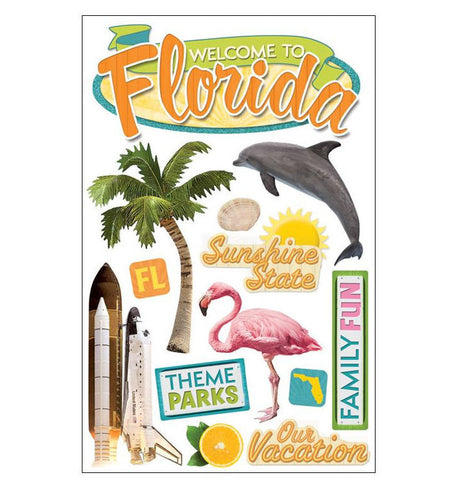 Florida Paper House 3D Sticker
