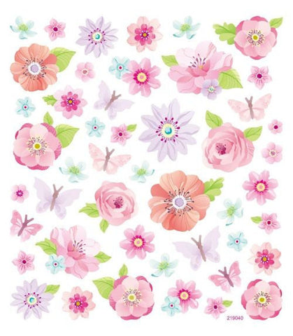 Pink Peonies Flower Sticker