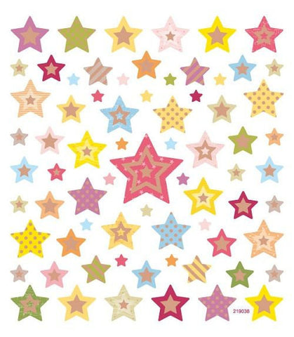 Patterned Stars Stickers