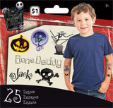 Nightmare Before Christmas Temporary Tattoo • Mini Tattoo Bag 25ct