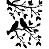 "Birds in branches Embossing Folder 4.25""X5.75"""