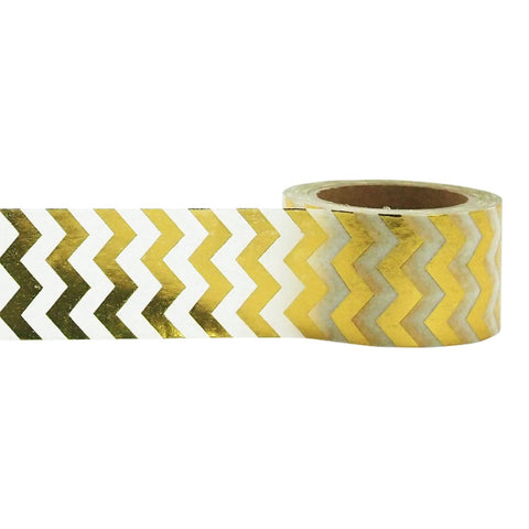 Gold Chevron Tape • Little B Foil Tape