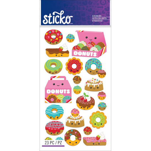 Donut Characters Sticker Sticko