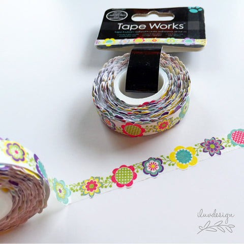 Multi Floral Die Cut DecorativeTape Works