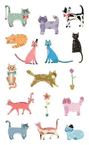 Curious Cats Sticker • Mrs. Grossman's Stickers