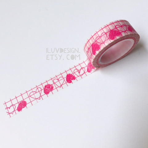 Heart Doodles Washi Tape