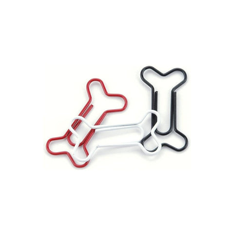 Dog Bone Paper Clips (15/Pkg) Painted Metal Dog Bone Paper Clips